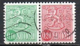Finlandia, 1963/67 - 10 + 20p Arms Of Finland, Coppia - Nr.400-402 Usato° - Gebraucht