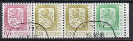 Finlandia, 1978/90 - 10 + 20 + 50p Coat Of Arms, Quartina - Nr.555-556-559 Usato° - Gebraucht