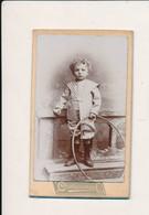 ##R - Photographie - Photo  CDV  19°  Chateauneuf - Enfant  Avec Son Jouet Cerceau - Oud (voor 1900)