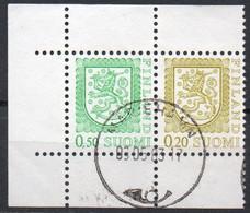 Finlandia, 1978/90 - 20 + 50p Coat Of Arms, Coppia - Nr.556a-559 Usato° - Gebraucht