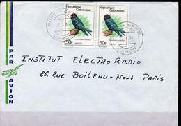 N° 442 X 2 - Sur Lettre 1981 - Oiseaux - Gabon - Gabon (1960-...)