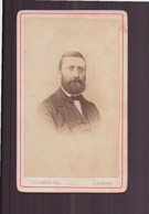 """Photo Sur Carton  ( 10.5 X 6.5 Cm ) """" Homme à La Barbe Fournie """" Photographe Colombier, Auxerre - Oud (voor 1900)"""