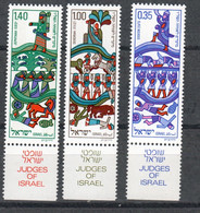 ISRAEL 584-6  MNH ** New Year 5736 - Judges Of Israel 1975 - Ungebraucht (mit Tabs)