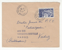 France Letter Cover Posted 1951 To Vaduz B211015 - Ungebraucht