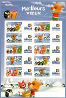 Meilleurs Voeux 2007. Nr. 3986a/90a. Neufs **  Manchots Et Rennes. Personnalisés. BF De  10 Timbres Validité Permanente - Personalized Stamps