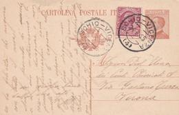 REGNO - ITALIA - SCHIO (VICENZA)  INTERO POSTALE - C. 30 + FR.LLI. AGGIUNTA. - V.G. PER VERONA - Ganzsachen