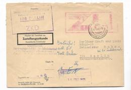 DDR,  Gut Erhaltener ZKD-Brief Mit  Von 1971, Mit Zustellungsurkunde-Stempelung - Dienstpost