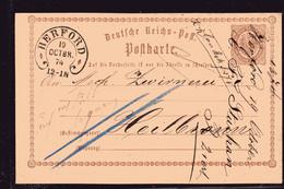 Hufeisen-St Herford 18 Auf DR-Ganzsache P1 . - Briefe U. Dokumente