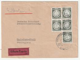 DDR-Dienstpost: Eilboten-Doppelbrief, MeF Nr. 8 - Dienstpost