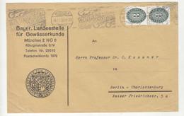 Bayer. Landesstelle Für Gewässerkunde Official Letter Cover Posted 1929 B211015 - Dienstpost