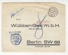 Germany Official Letter Cover Posted 1934 Nachgebühr Mark B211015 - Dienstpost