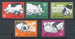 Chine -* N° 1304 à 1308 - Elevage Porcins - Ungebraucht