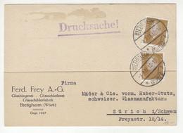 Ferd Frey AG, Bietigheim Company Postcard Posted 1931 B211015 - Briefe U. Dokumente