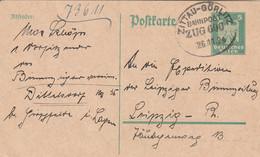 Allemagne Ambulant Zitau - Görlitz Sur Entier Postal 1924 - Ganzsachen