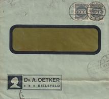 Allemagne Lettre Inflation Bielefeld 1923 - Briefe U. Dokumente
