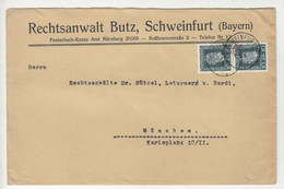 Rechtsanwalt Butz, Schweinfurt Comapny Letter Cover Posted 1925 B211015 - Briefe U. Dokumente