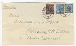 Germany Allied Occupation Letter Cover Posted 1947 Bad Neustadt To Switzerland B211015 - Gemeinschaftsausgaben