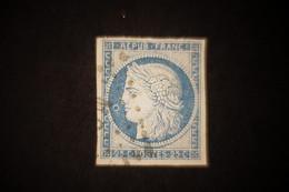 Cérés 25 Cts Bleu Oblitéré Martinique Avec Anneau De Lune - Cérès