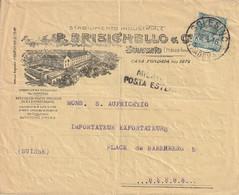 Italie Cachet Solesino Sur Enveloppe Illustrée Pour La Suisse 1916 - Poststempel