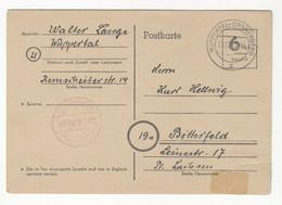 Allied Occupation Postal Stationery Postcard Posted 1945 Wuppertal-Cronenberg B211015 - Gemeinschaftsausgaben