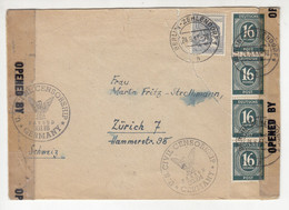 Allied Occupation Letter Cover Posted 1947 Berlin-Zehlendorf - US Civil Censorship B211015 - Gemeinschaftsausgaben