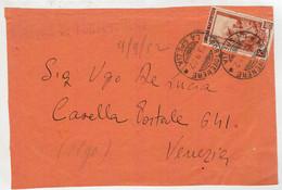 FRONTALE  DI  LETTERA  VIAGGIATA  DA  LA  SPEZIA  X  VENEZIA      1952 - Cartas