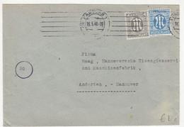 E. Bullermann & Co. Nachf., Hamburg Company Letter Cover Posted 1946 B211015 - Bizone