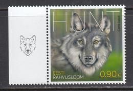 Estland 2021. Estonian National Animal – The Wolf. 1 W. MNH. - Estland