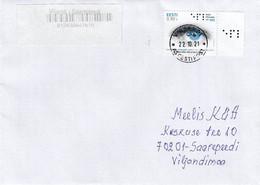 GOOD ESTONIA Postal Cover 2021 - Good Stamped: Estonian Federation Of The Blind - Estland