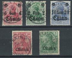 """LL-/-284-  BON LOT GERMANIA """"CHINE"""" , OBL , TTB ,  VOIR IMAGES POUR DETAILS, IMAGE DU VERSO SUR DEMANDE, - Deutsche Post In China"""
