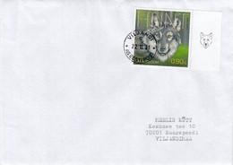 GOOD ESTONIA Postal Cover 2021 - Good Stamped: Wolf - Estland