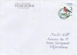 GOOD ESTONIA Postal Cover 2021 - Good Stamped: Bird / Christmas - Estland