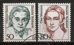 BRD 1986  Mi.Nr. 1304 / 05 , Frauen Der Deutschen Geschichte - Gestempelt / Fine Used / (o) - Gebraucht