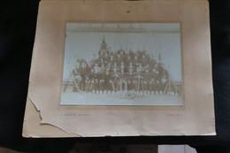 Photo Originale Début 1900 Fanfare Musique De La Barre En Ouche Près De Bernay Dans L' Eure Photographe C. Walter   Z2 - Oud (voor 1900)
