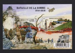 """FRANCE 2016 - N° F5075 - BLOC FEUILLET  """"Centenaire De La Bataille De La Somme"""" -  Bloc De 2 Timbres à 1,00€ - Neuf** - Ungebraucht"""
