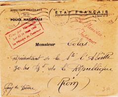 France , De Vichy En 1943, Le Ministre De L'interieur  En Franchise - Guerres