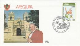 PEROU VISITE PAPE JEAN PAUL à AREQUIPA 1985 - Peru
