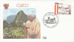 PEROU VISITE PAPE JEAN PAUL à CUZCO 1985 - Peru