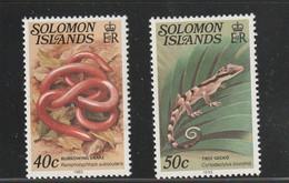 Salomon Solomon - Yvert Série 479 Et 480 ** - Reptiles - Serpent Lézard - Solomoneilanden (1978-...)