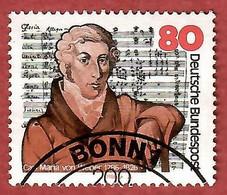 BRD 1986  Mi.Nr. 1284 , 200. Todestag Von Carl Maria Von Weber - Gestempelt / Fine Used / (o) - Gebraucht