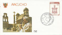 PEROU VISITE PAPE JEAN PAUL à AYACUCHO 1985 - Peru