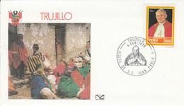 PEROU VISITE PAPE JEAN PAUL à TRUJILLO 1985 - Peru
