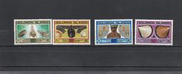Salomon Solomon - Yvert Série 481 à 484 ** - Coquillages - Solomoneilanden (1978-...)