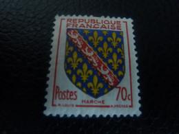 Marche - Armoiries De Provinces - 70c. - Rouge, Bleu Et Jaune - Neuf Sans Charnière - Année 1955 - - Ungebraucht