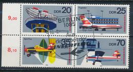 """RDA-25 Ans De La Compagnie """"Interflug"""" YT 2177-2180 Obl./ DDR-25 Jahre Interfug Mi.Nr. 2516-2519 Gest. - Gebraucht"""