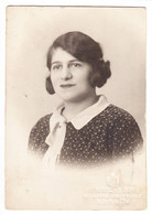 Antique Photo - CDV Size - Henric Lang - Brasov - Romania - Young Lady In Vintage Fashion Attire - Oud (voor 1900)