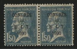 N° 265 PAIRE Cote 42 € Congrès Du B. I. T. Sur 1 Fr 50 Pasteur (voir Description) - Ongebruikt