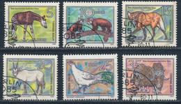 RDA-Animaux En Voie De Disparition YT 2181-2186 Obl./ DDR-Bedrohte Tiere Mi.Nr. 2522-2527 Gest. - Gebraucht