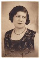 Antique Photo - PC Size - Z.I. Aladics - Miercurea Ciuc - Romania - Lady With Necklace - Oud (voor 1900)