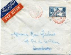 FRANCE LETTRE PAR AVION AFFRANCHIE AVEC LE N°252 III DEPART TOULOUSE 27-5-28 CONGRES-PHILATELIQUE POUR L'ALGERIE (signé) - Brieven En Documenten